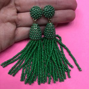 BaubleBar PIÑATA TASSEL EARRINGS in GREEN